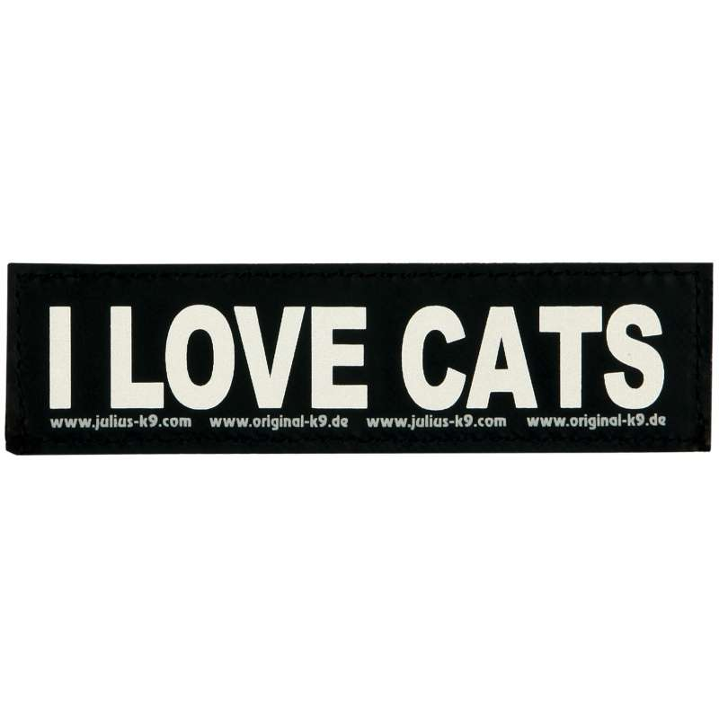 "Julius K9 Velcro Sticker ""I Love Cats""  S  I LOVE CATS"