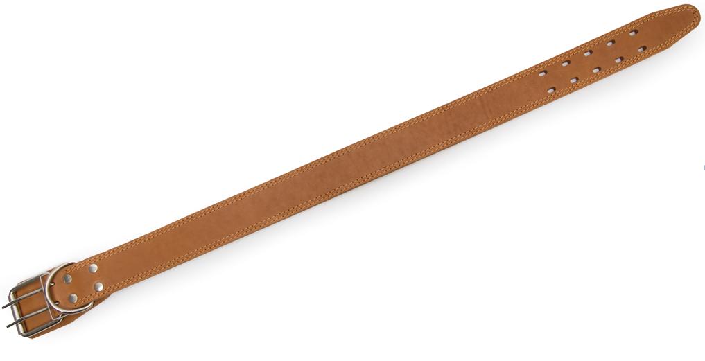 Bark&Bones Coleira de Couro com Furos Ovais  Marrom Claro 65-78x3.5 cm