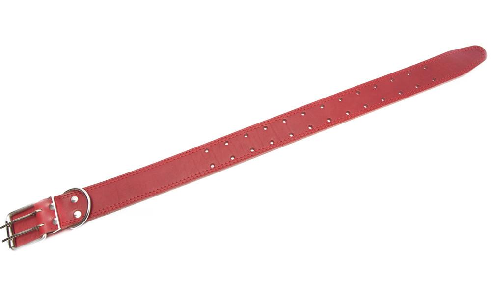 Coleira de Couro com Furos Redondos, M / L Vermelho  da Bark&Bones Compre a bom preço com desconto