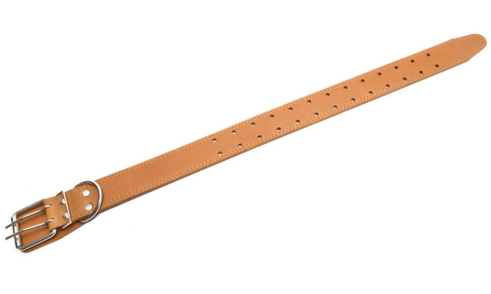 Bark&Bones Collar de Cuero con Agujeros redondos Marrón claro 35-66x4.5 cm