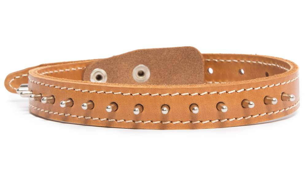 Bark&Bones Collar con Pinchos Naranja claro 33-45x2 cm