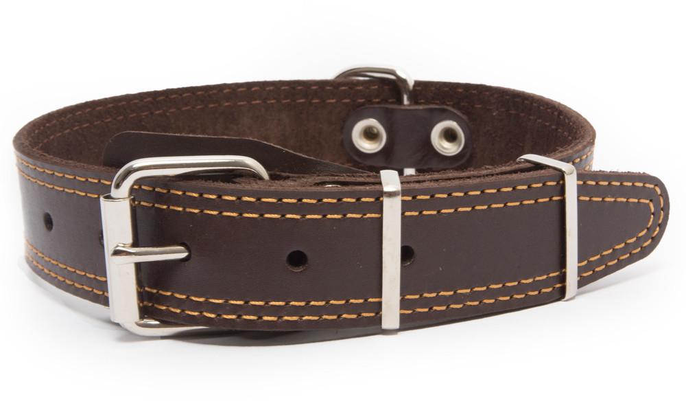 Bark&Bones Collar de Cuero con Parte Trasera de Tejido con Dobles Bordes Cosidos 54-66x3.5 cm 4059191998500 opiniones