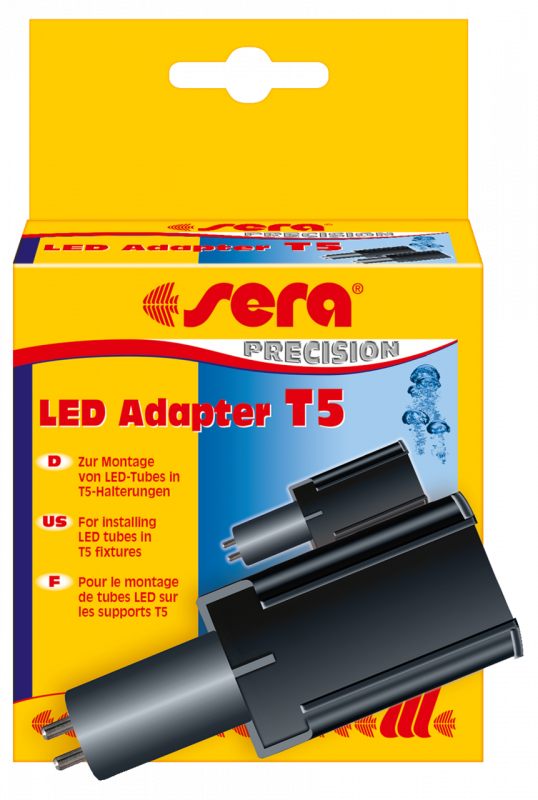 Sera LED Adapter T5, 2 st. Zwart 4001942310710