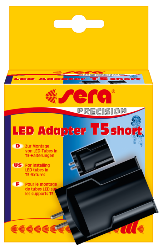 Sera LED Adapter T5 short, 2 st.  T5 short  Zwart
