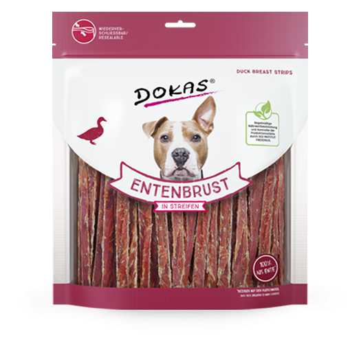 Chewing Sticks, Rolls and Strips Duck Breast Strips 500 g  by Dokas Buy fair and favorable with a discount