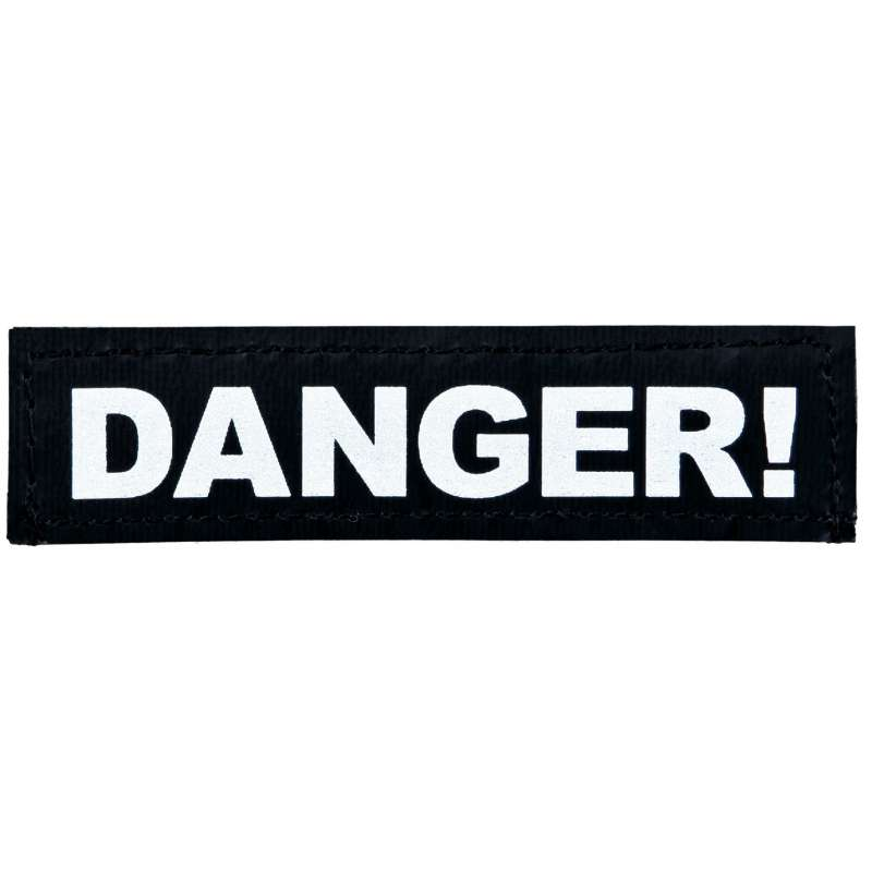 """Julius K9 Etiqueta de Velcro """"Danger!"""" S DANGER!"""