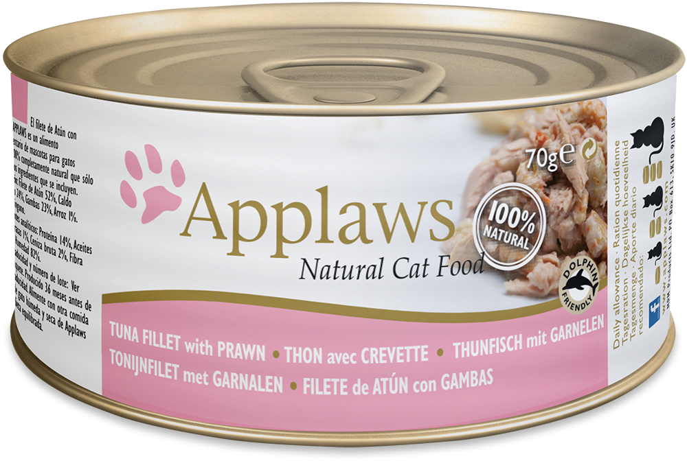 Applaws Natural Cat Food Thunfischfilet mit Garnelen 70 g