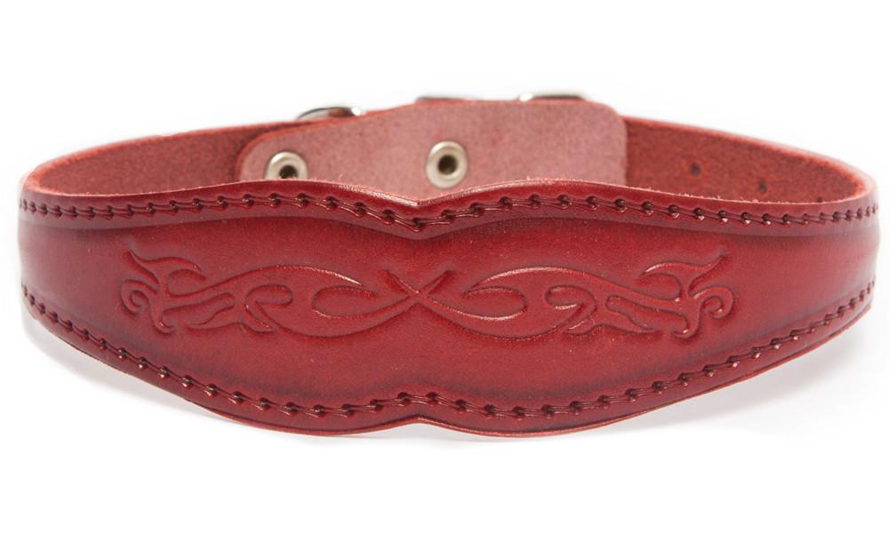 Bark&Bones Collar Ancho con Motivo para Perros  Burdeos 27-36x3.1 cm