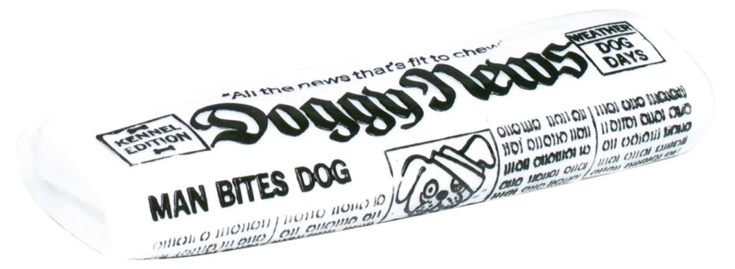 Trixie Periódico Doggy News, Vinilo Blanco 18 cm