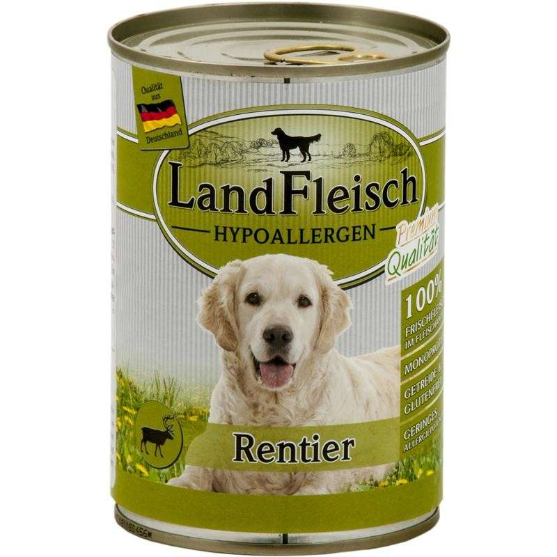 Stomach & Digestion Dog Hypoallergen Reindeer Can 400 g  by Landfleisch Buy fair and favorable with a discount