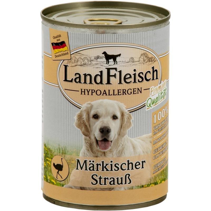 Stomach & Digestion Dog Hypoallergen Brandenburg ostrich Can 400 g  by Landfleisch Buy fair and favorable with a discount