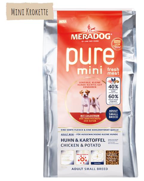 Meradog Pure Mini Fresh Meat com Frango & Batata 1 kg, 3 kg Compre a bom preço com desconto