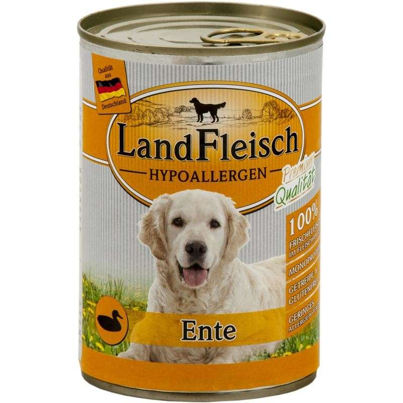 Stomach & Digestion Dog Hypoallergen Duck Can 400 g  by Landfleisch Buy fair and favorable with a discount