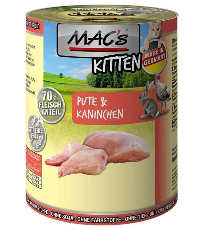 MAC's Kitten - Dinde & Lapin Poids 400 g