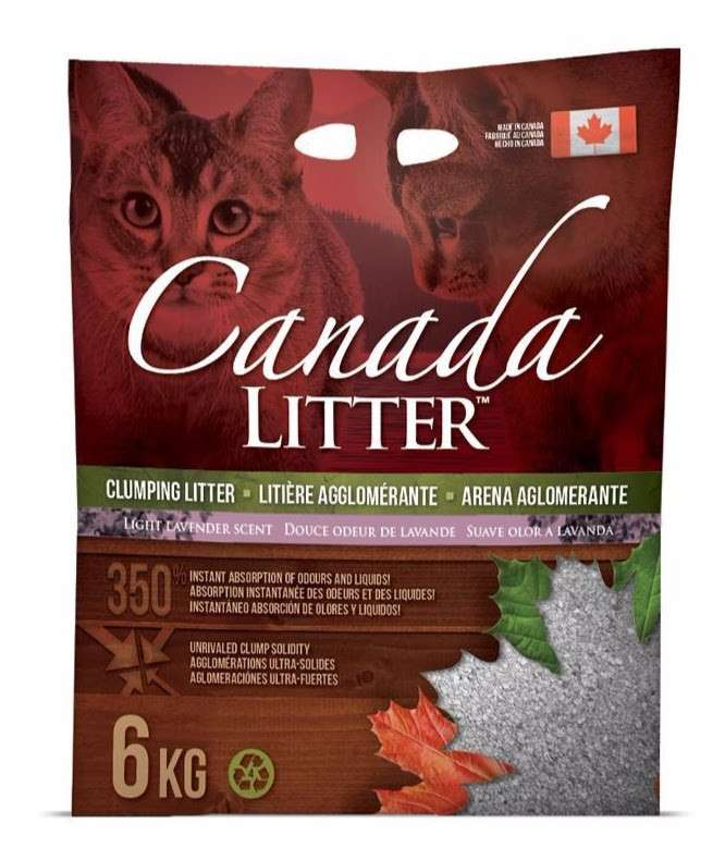 Canada LITTER Arena Aglomerante para Gatos con Lavanda Lavender  6 kg