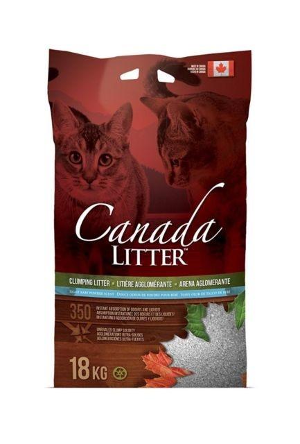 Canada LITTER Arena Aglomerante con Suave Olor a Talco de Bebé  Baby Powder  18 kg