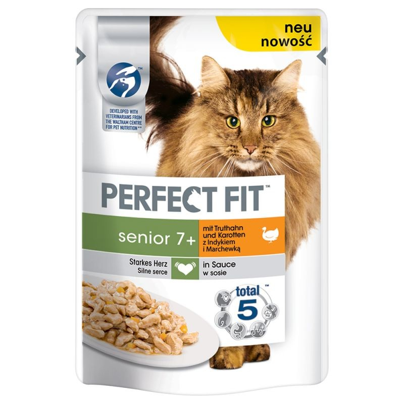 Perfect Fit Senior 7+ with Turkey & Carrot 85 g osta edullisesti