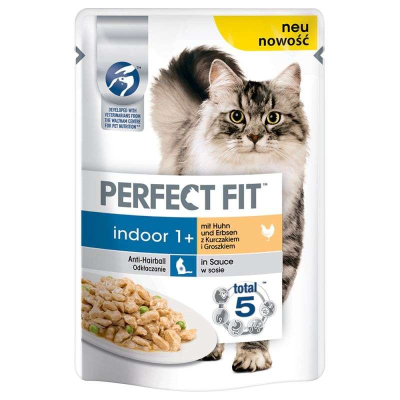 Perfect Fit Indoor 1+ with Chicken & Peas 85 g osta edullisesti