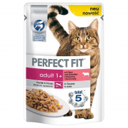 Perfect Fit Adult 1+ au Bœuf et Carottes 85 g