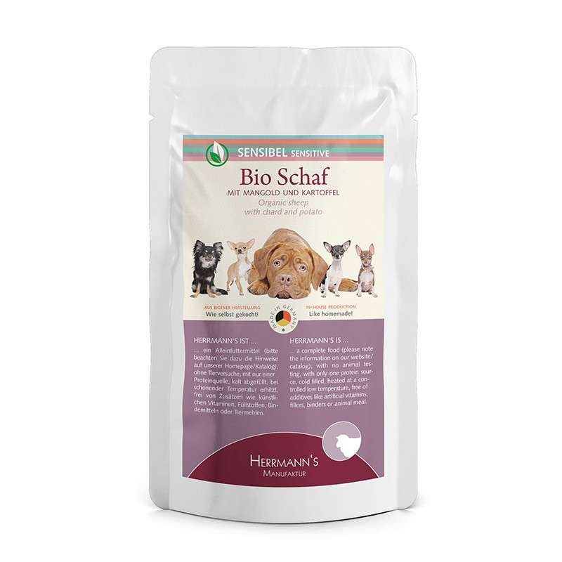 Sensitive Organic Sheep with Chard and Potato from Herrmann's  400 g, 150 g, 800 g buy online