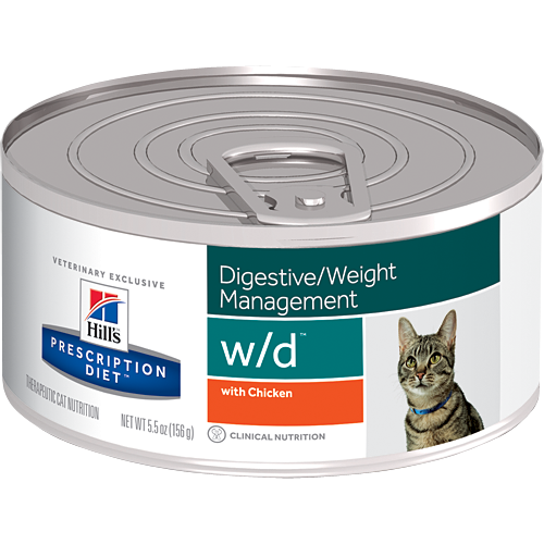 Hill's Prescription Diet Feline - w/d Digestive / Weight Management con Pollo 156 g