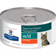 Prescription Diet Feline - w/d Digestive / Weight Management mit Huhn 156 g