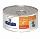 Prescription Diet Feline - c/d Multicare Urinary Care au Poulet 156 g