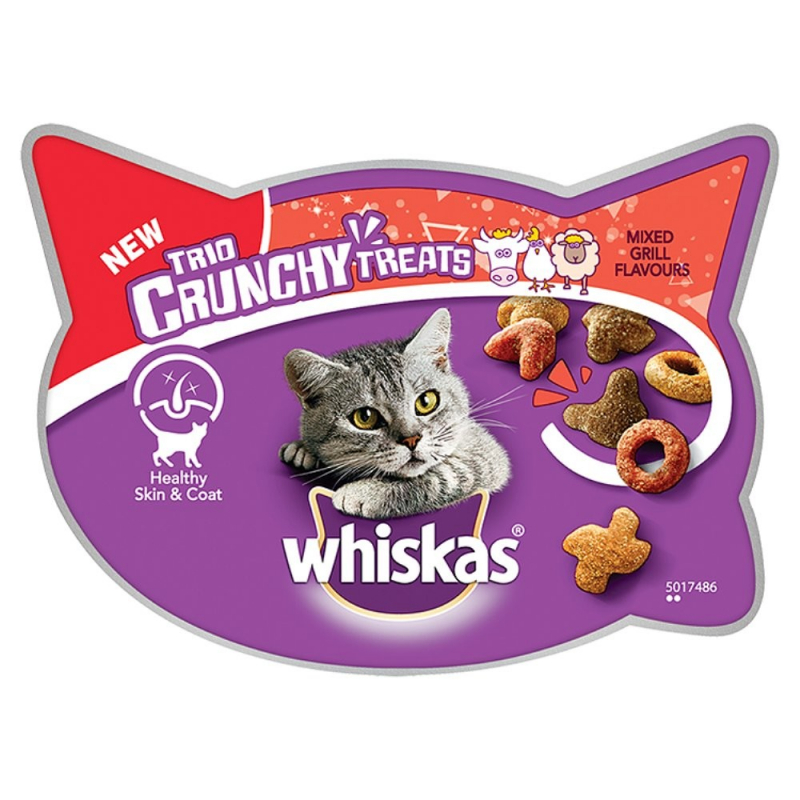 Whiskas Trio Crunchy Treats - Mixed Grill Flavours 55 g 5998749134795 anmeldelser