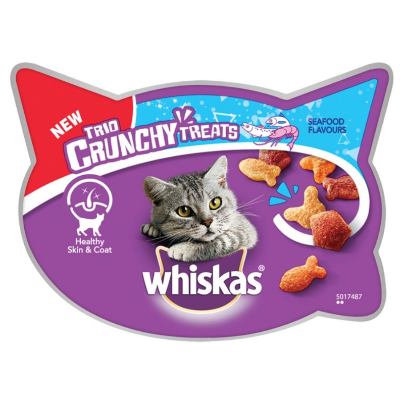 Whiskas Trio Crunchy Treats Saveur de Fruits de Mer 55 g 5998749134733 avis