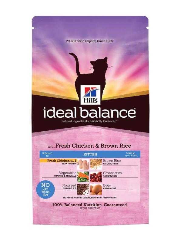 Hill's Ideal Balance Feline - Kitten with Chicken & Brown Rice 2 kg, 300 g buy online