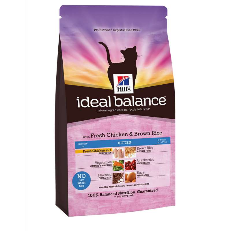 Hill's Ideal Balance Feline - Kitten with Chicken & Brown Rice EAN: 0052742313702 reviews