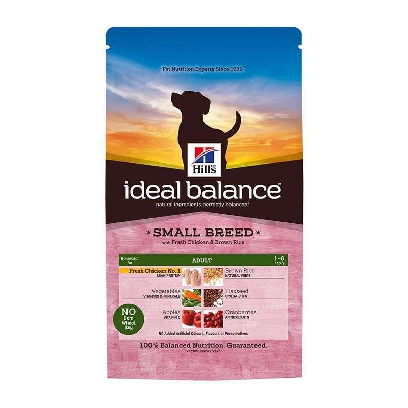 Hill's Ideal Balance Canine - Adult Small Breed con Pollo & Arroz Integral 700 g, 2 kg