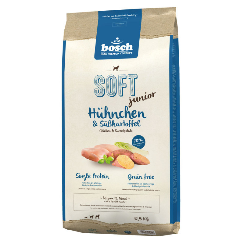 bosch Soft Junior - Chicken & Sweet Potato 2.5 kg, 12.5 kg, 1 kg test