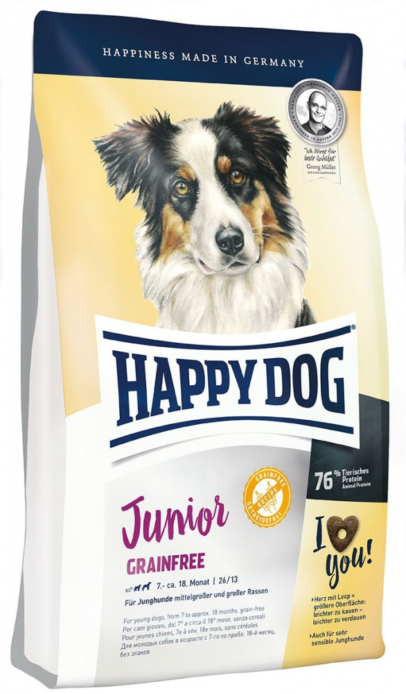 Happy Dog Junior Grainfree 10 kg, 1 kg