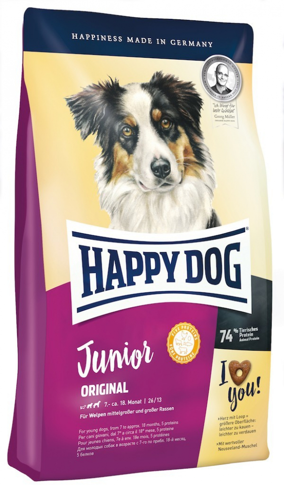 Happy Dog Supreme Young Junior Original 4 kg, 10 kg, 1 kg
