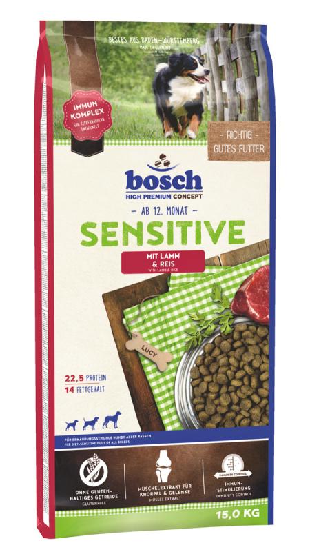 Bosch Sensitive, Lam & Ris 1 kg, 15 kg, 3 kg køb rimeligt og favoribelt med rabat