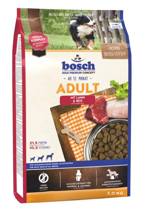 Bosch High Premium Concept - Adult with Lamb & Rice 3 kg 4015598013123 erfaringer