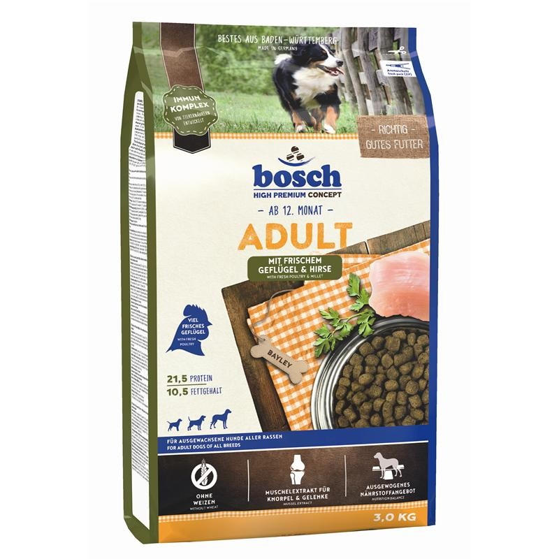 Bosch High Premium Concept - Adult with Fresh Poultry & Millet 3 kg