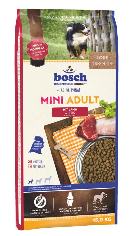 Bosch High Premium Concept - Mini Adult Lam & Rijst 1 kg, 3 kg, 15 kg