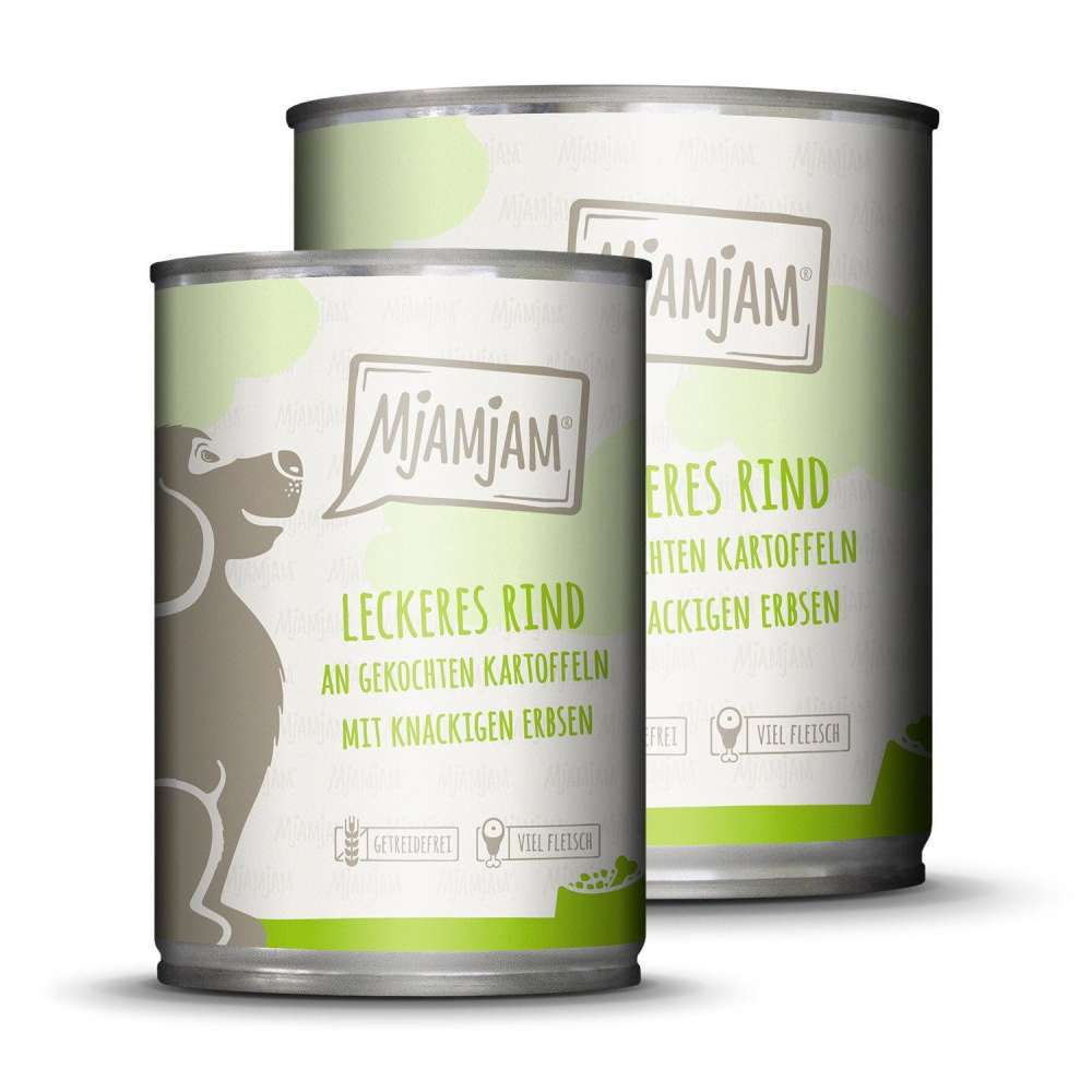 Wet dog food Delicious beef with boiled potato and crunchy peas 400 g  by MjAMjAM Buy fair and favorable with a discount