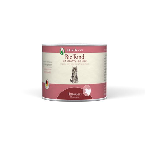 Herrmann's  Bio - Rundvlees met Wortel en Gierst, Blikje 100 g, 200 g