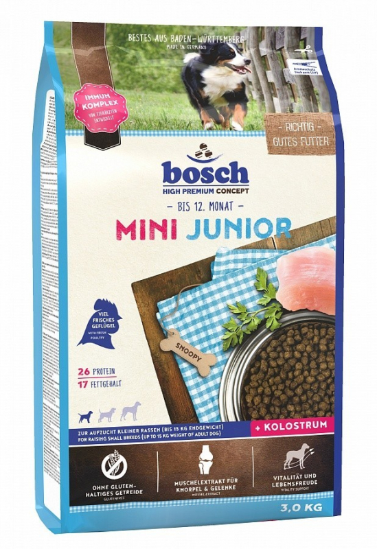 Bosch High Premium Concept - Mini Junior 1 kg, 15 kg, 3 kg