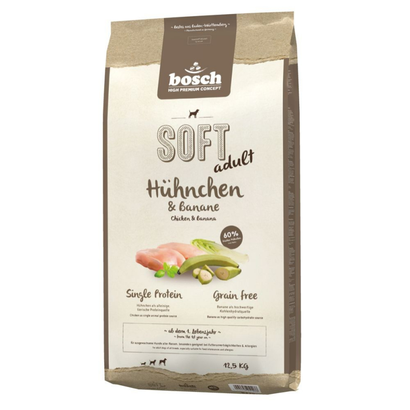 bosch Soft Adult - Pollo & Banana 2.5 kg, 12.5 kg, 1 kg