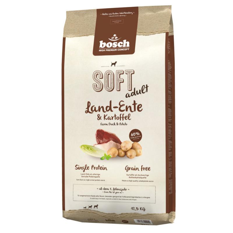 Bosch Soft Adult - Farm Duck & Potato 12.5 kg 4015598009249 anmeldelser