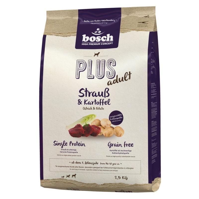 Bosch Plus Struisvogel en Aardappel Hondenvoer 2.5 kg, 1 kg, 12.5 kg