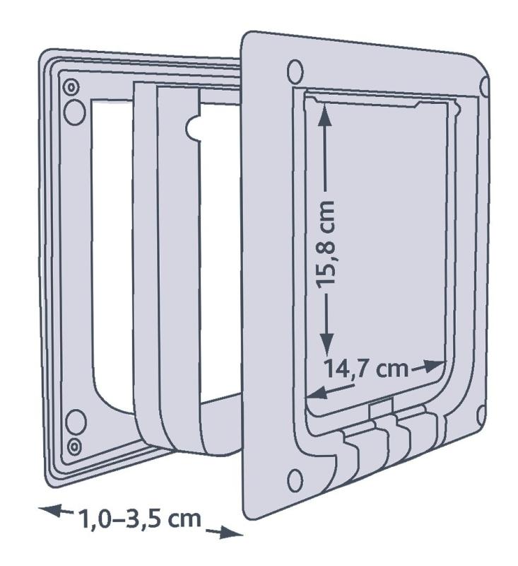 Trixie 4-Way Cat Flap, electromagnetic  Vit 21.1x24.4 cm