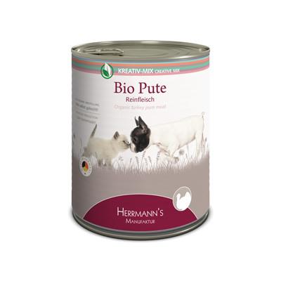 Herrmann's  Kreativ-Mix Bio Kalkoen Puur in Blikje 800 g 4047459007774
