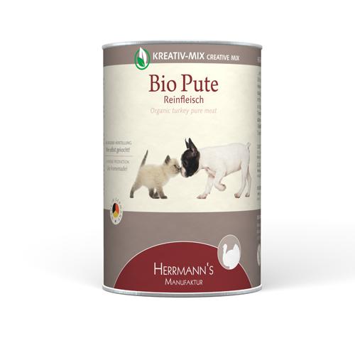 Herrmann's  Kreativ-Mix Bio Kalkoen Puur in Blikje 400 g
