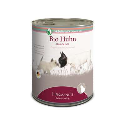 Herrmann's  Kreativ-Mix Bio-Kip Puur in Blikje 800 g, 400 g, 200 g, 100 g