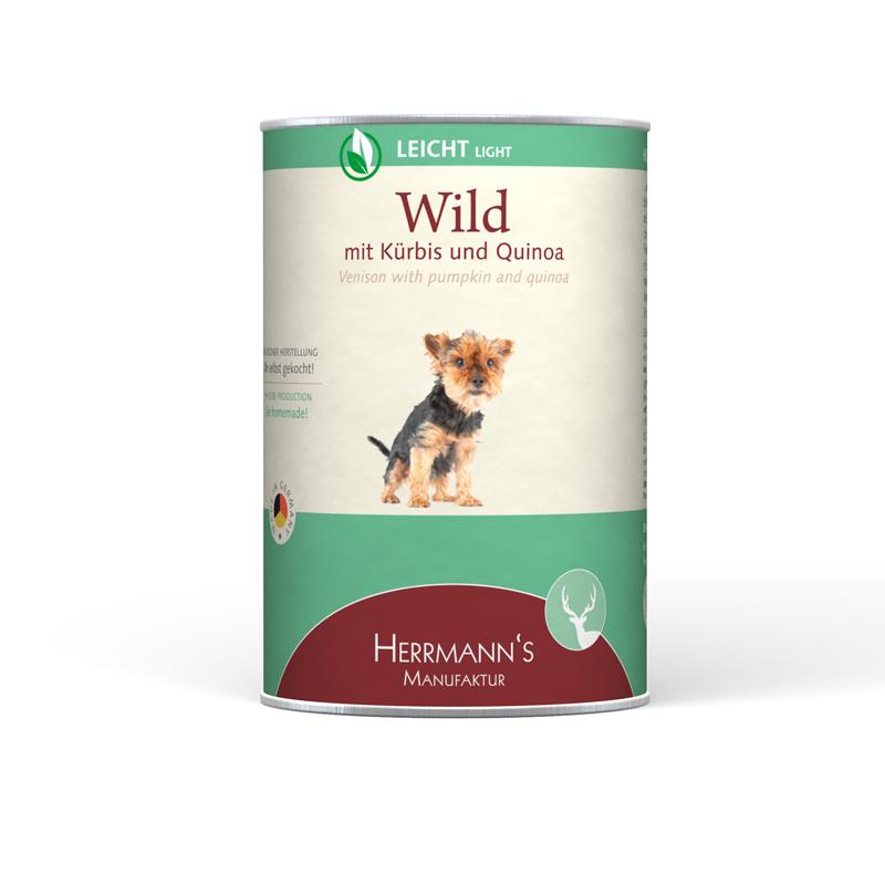 Herrmann's  Wild met Pompoen & Veenbessen en Quinoa 400 g